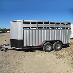 Titan 14 ft Rancher Bumper Hitch Stock Trailer