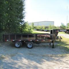 Titan 8 ft x 20 ft Deckover Gooseneck Dump Trailer