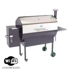 Green Mountain Jim Bowie Stainless Steel Pellet Grill WIFI & Smoker