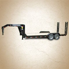 Titan 16 ft Construction Gooseneck Utility Trailer