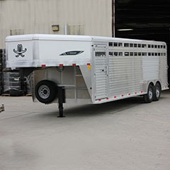 Titan 24 ft Aluminum Gooseneck Stock Trailer