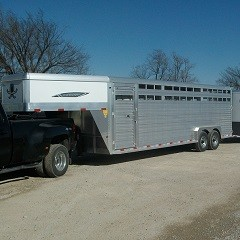 Titan 20 ft Aluminum Gooseneck Stock Trailer