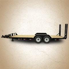 Titan Skidsteer Bumper Hitch Utility Trailer