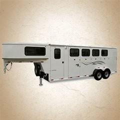 Titan Classic II 22 ft 4-horse Gooseneck Trailer