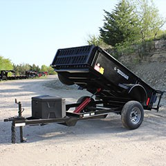 Titan 5 ft x 8 ft Mini-Dump Trailer