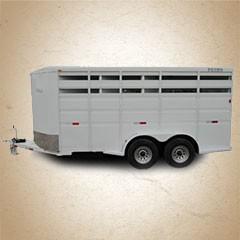 Titan Primo 14 ft 2-Horse Bumper Hitch Trailer
