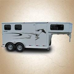Titan Renegade II 16 ft 2-Horse Gooseneck Horse Trailer