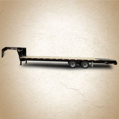 Titan Ruff Neck 10K Dually 30 ft Flatbed Wide Glide Trailer